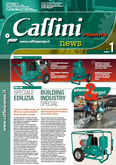 Caffini Pumps House organ - News n. 1