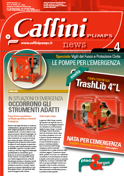 Caffini Pumps Organe d'information - News n. 4